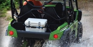 atv and cooler for hunting